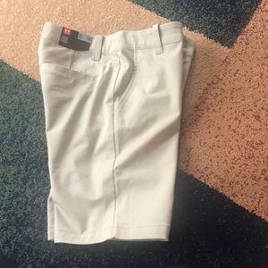 Girls UA Under Armour chino shorts 10 12 NWT